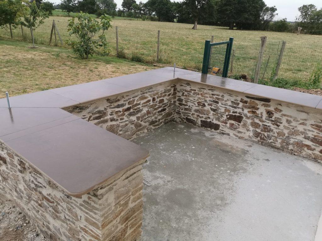 Muret en pierres extérieur réalisé par Anthony Brangeon